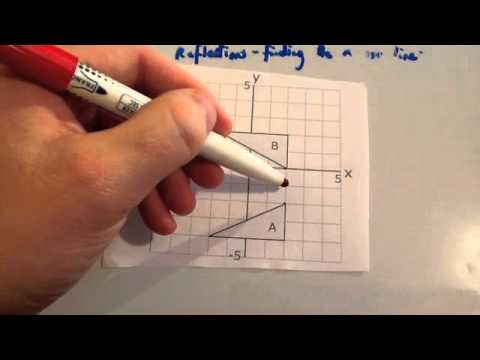 Drawing Lines Of Symmetry Worksheet Ks : Finding the mirror line when reflecting corbettmaths youtube