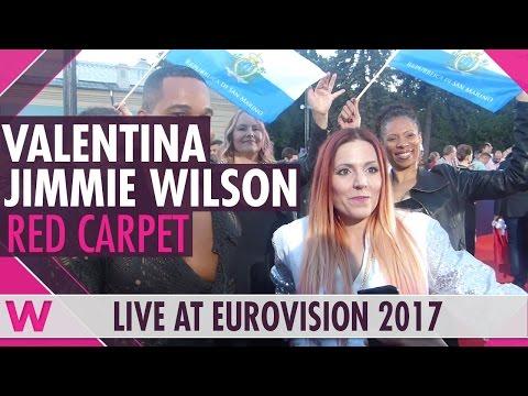 Valentina Monetta & Jimmie Wilson (San Marino) interview @ Eurovision 2017 red carpet