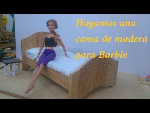 Como hacer una cama de madera para mu ecas tipo barbie youtube - Como construir una cama ...