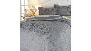 Anna Griffin Juliette 3piece Gray Jacquard Comforter Set