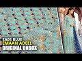 👰 Emaan Adeel Bridal Collection 2019 - Unbox EA03 Blue - Sara Clothes
