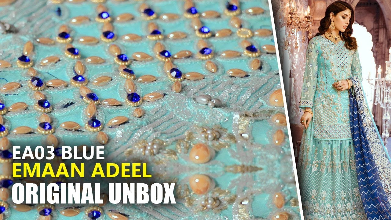 0deaff8ba4 Emaan Adeel Bridal Collection 2019 - Unbox EA03 Blue - Sara Clothes