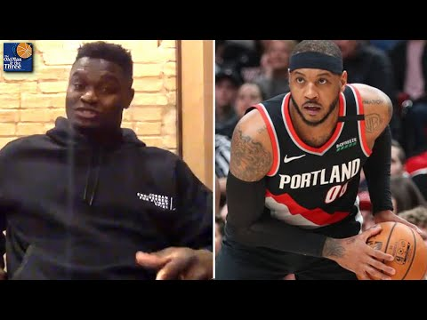 Zion Williamson On Getting Schooled By Carmelo Anthony & Why He's One of His Favorite Players
