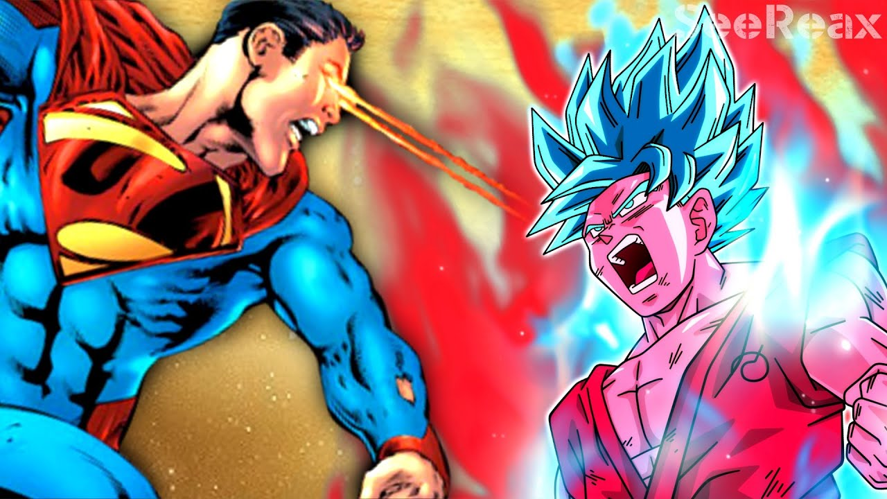 Goku VS Superman | Super Saiyan God / Blue Kaioken