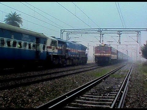 WDP-4B vs WAP-4!! Blistering ET charger meets earth shaking oldest WDP-4B amid-st low visibility!!