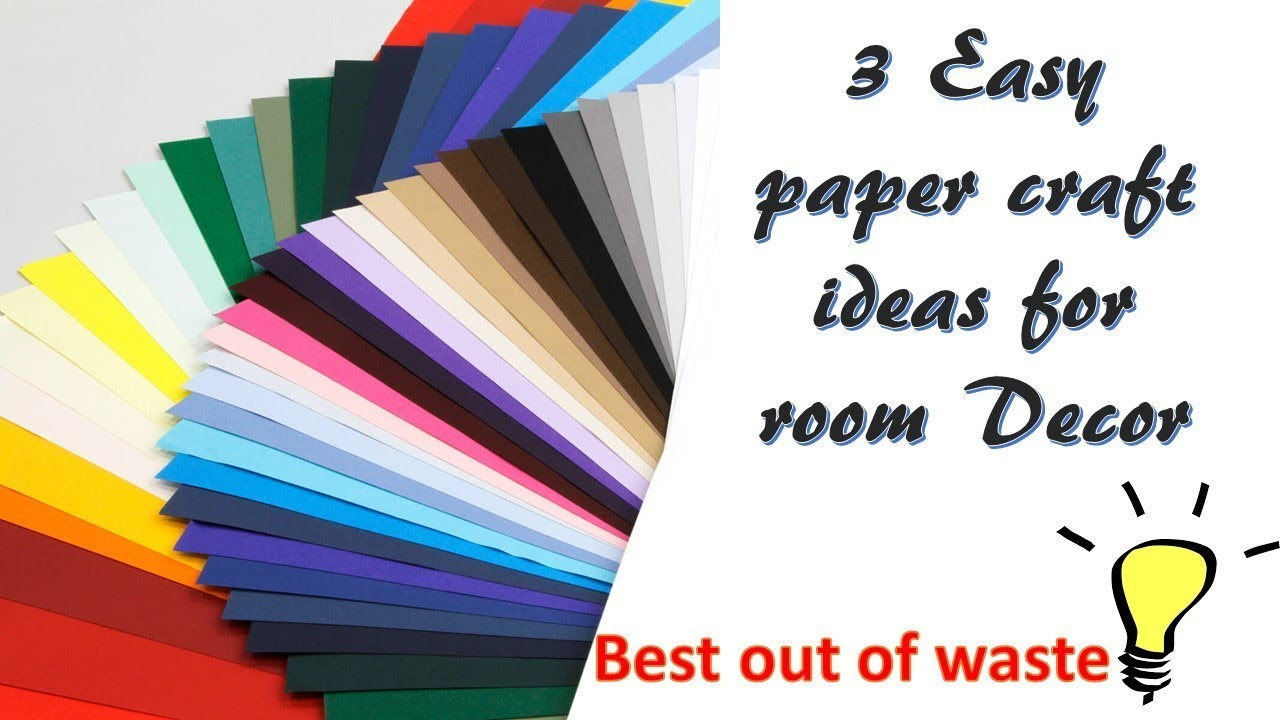 3 easy diy paper craft ideas room decor best out of for Best out of waste ideas for class 5 easy
