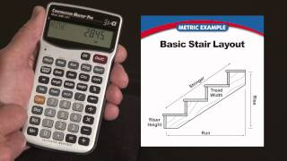 How to do Basic Stair Layouts in Metric | Construction Master Pro