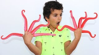 Finger Tentacles ,funny video for kids , les boys tv