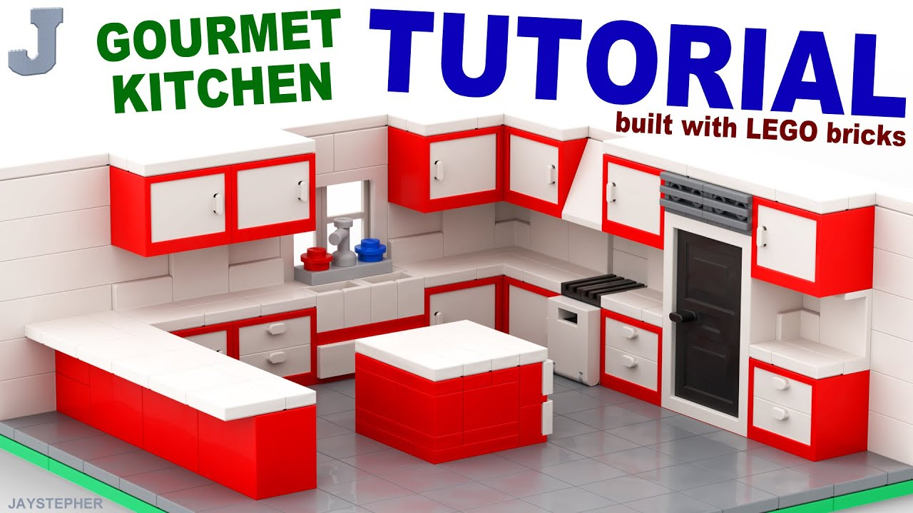 Lego gourmet kitchen tutorial youtube for Things to include when building a house