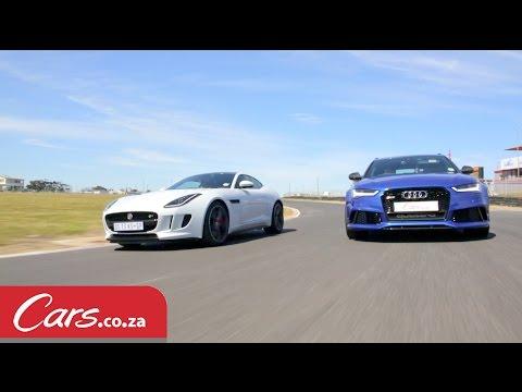 Track Race: Audi RS6 Avant vs Jaguar F-Type R V8 AWD