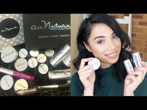AU NATURALE COSMETICS HAUL/REVIEW | organic, cruelty-free, vegan products.