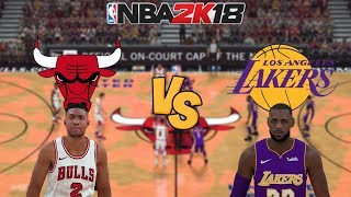 nba-2k18-chicago-bulls-vs-los-angeles-lakers-full-gameplay-updated-rosters