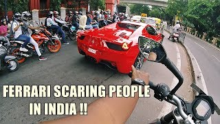 Chasing India's Loudest Ferrari | Reactions *PEOPLE SCREAMING*