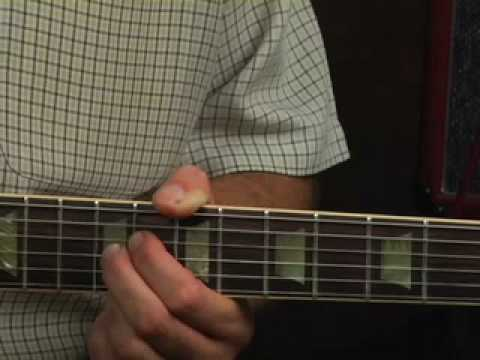 Learn electric blues guitar scale lick to comp chords lesson - YouTube
