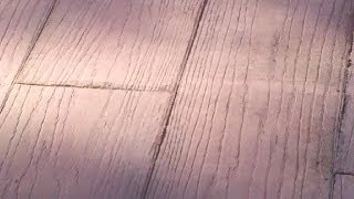 Wood Plank Stamp Concrete Augusta Ga.