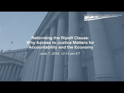 Reforming the Ripoff Clause: Why Access to Justice Matters for Accountability and the Economy
