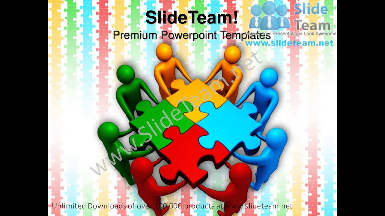 teams efforts business teamwork powerpoint templates ppt