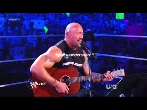 The Rock Songs Singing tn the Ring WWE.Monday.Night.Raw.2012.HD