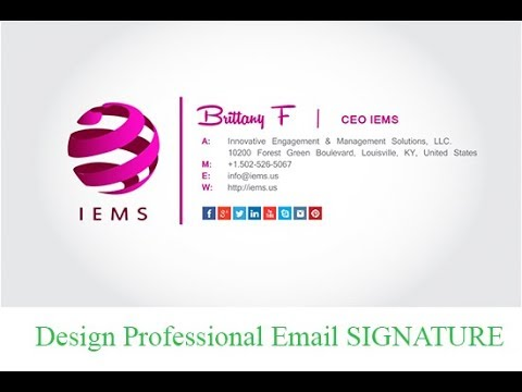 How To Create HTML Email Signature - YouTube