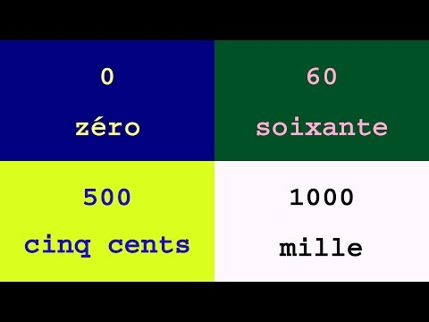 Colorful Numbers and Words : numbers from 0 to 1000 in French