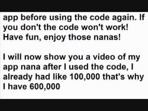 HACKED Invitation code for App Nana 500000 nanas YouTube