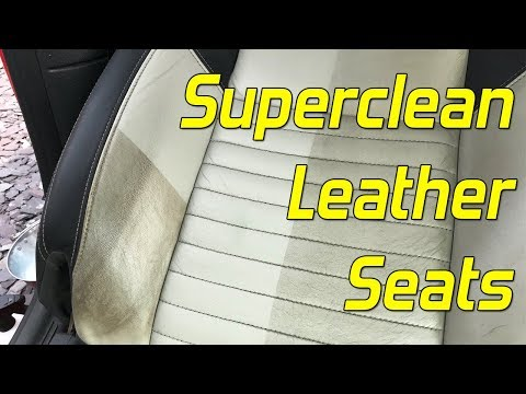 How To Superclean Leather Seats