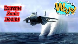 Jets Fighter Planes Sonic Booms | Extreme Sonic Booms | Breaking Sound Of Speed | Low Flybys