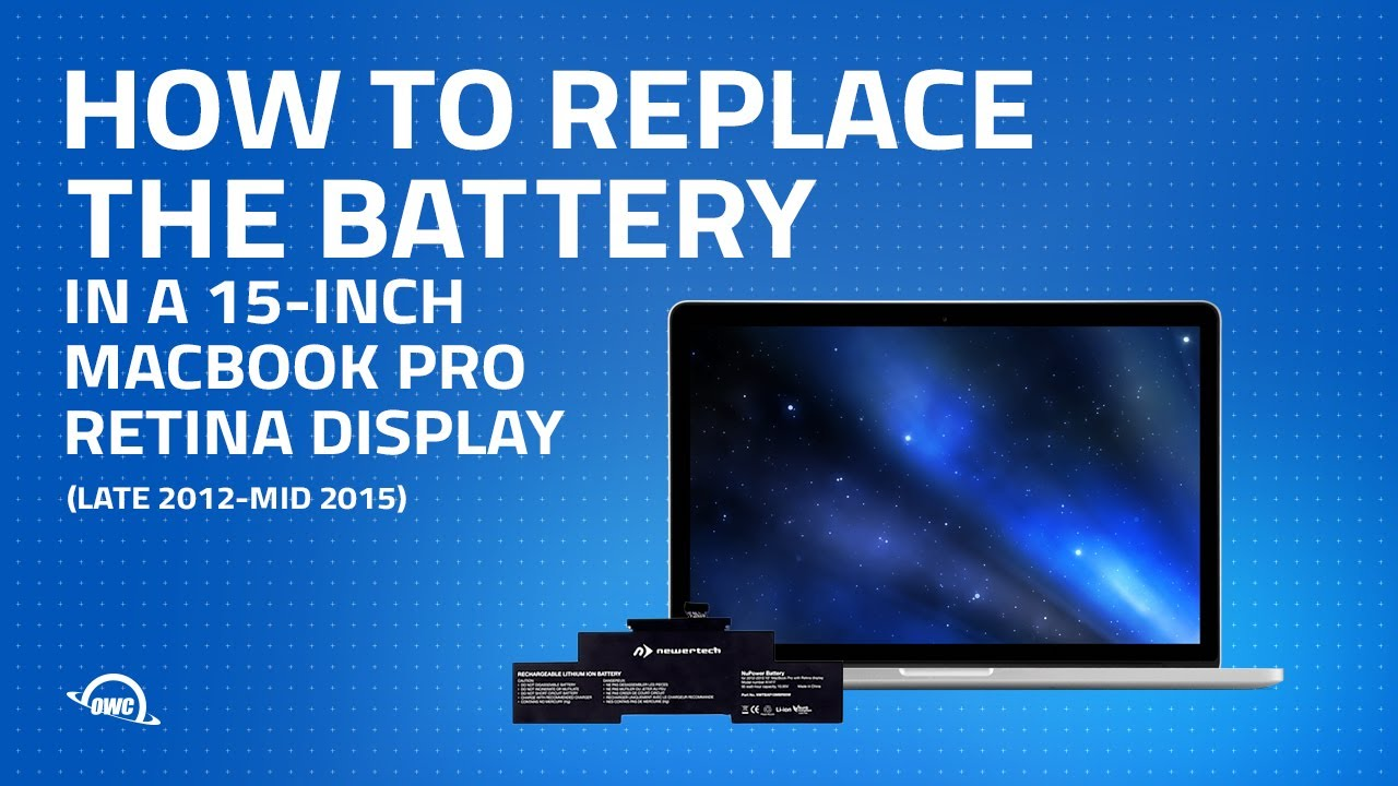 How to Upgrade / Replace the Battery in a MacBook Pro Retina 15-inch (late  2013 to mid 2015)