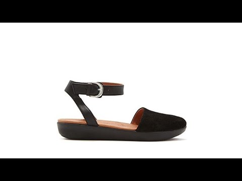 51e62f595 FitFlop Cova Leather ClosedToe Sandal - YouTube