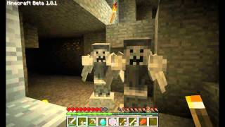 Minecraft - Weeping Angels Mod. Doctor Who! [V1.1] Alot of Screaming!