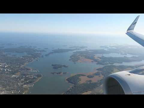 SCENIC FINLAND FROM ABOVE! Finnair Flight Report: AY842 Amsterdam to Helsinki