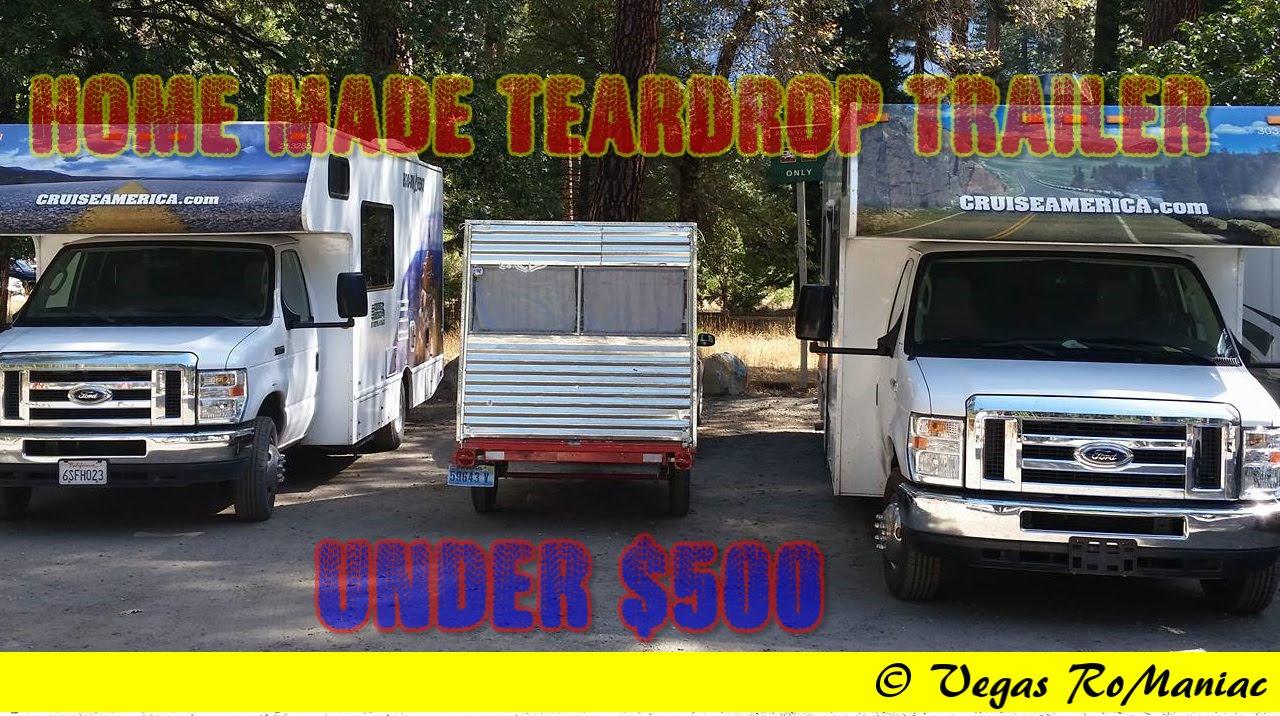 My Home Made Teardrop Trailer - under 500 dollars - WALKAROUND