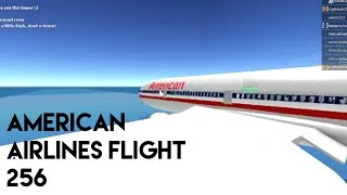 ROBLOX / American Airlines Flight 252 (Crash, timelapse)