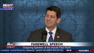 FAREWELL SPEECH: Outgoing Speaker of the House Paul Ryan Addresses Congress