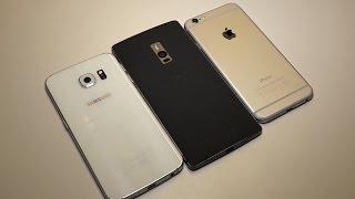 OnePlus 2 vs Galaxy S6 edge vs iPhone 6 - Kurzer Vergleich