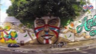 أخبار اليوم | رسومات على جدران الشوارع متفاعله مع الطبيعه