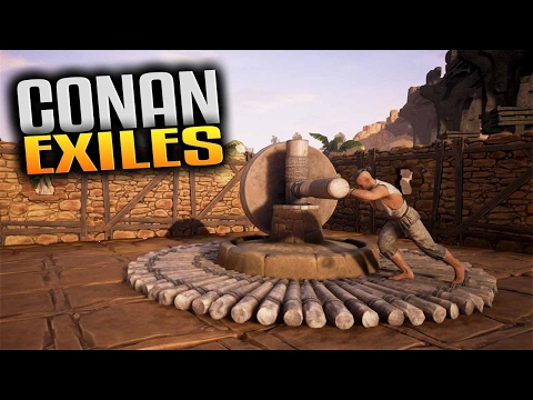 Conan Exiles Gameplay -  Iron & Coal Locations and Breaking Thrall on the Wheel of Pain