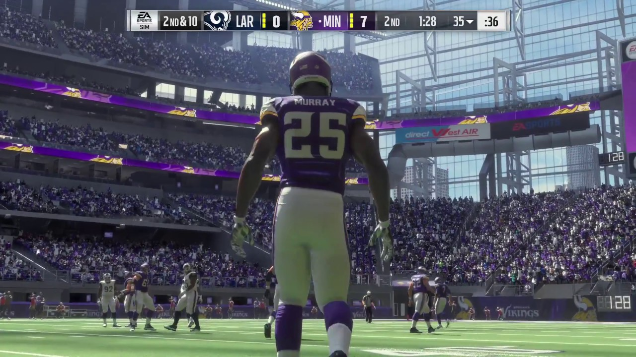 843de651 NFL 2017 Week 11 - Los Angeles Rams vs Minnesota Vikings - 1st Half -  Madden NFL 18 CPU SIM - HD