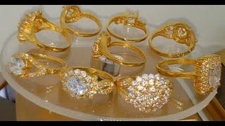 ALTIN YÜZÜK MODELLERİ 22 AYAR TAŞLI 2018 Latest Designer gold stone rings