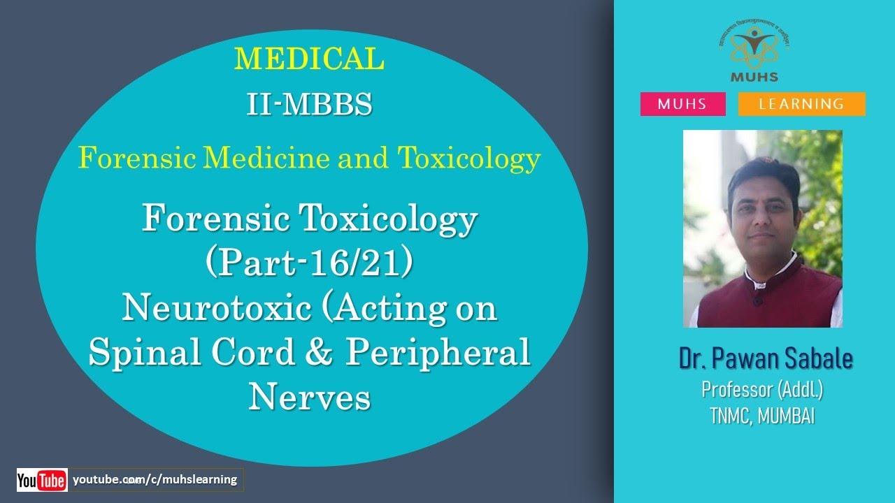 Forensic Toxicology Part 16 21 Forensic Medicine And Toxicology Mbbs Youtube