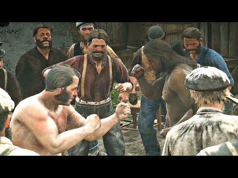 Red Dead Redemption 2 - Underground Fight Club Cutscene