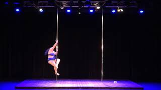 2018 US Pole Dance Championship Novice Level 2 Artistic Division - Ms. Vegas
