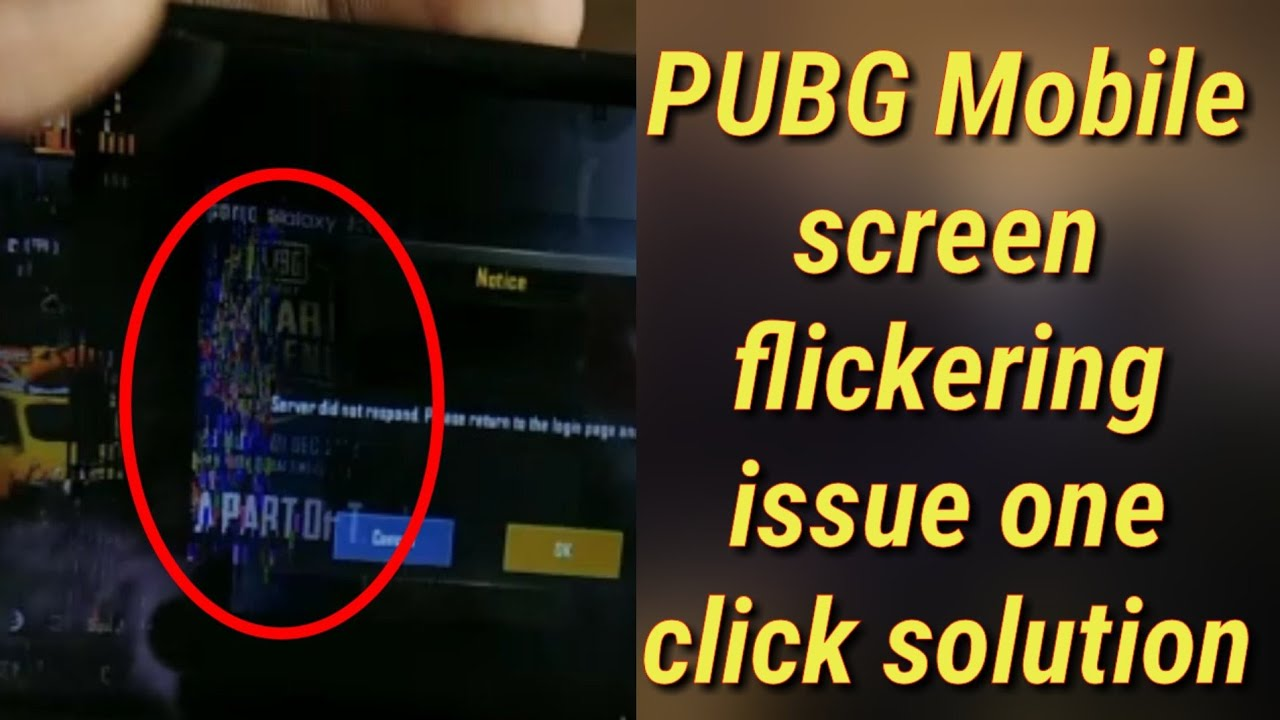How to solve PUBG Mobile screen flickering issue in one click