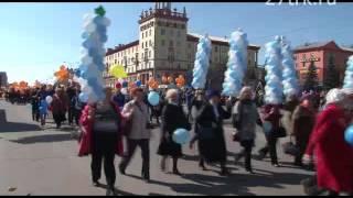 Первомайская демонстрация в Прокопьевске. Часть 2