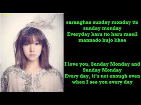 APink - Sunday Monday [ROM+ENG] Color Coded Lyric