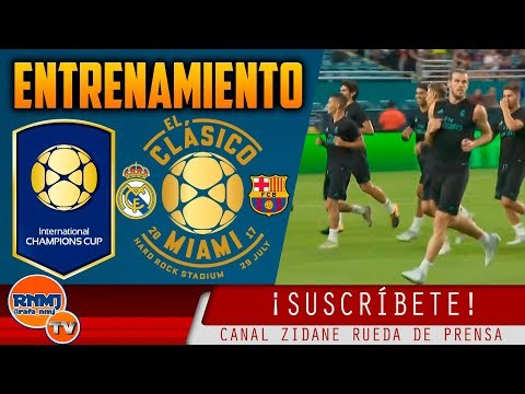 ENTRENAMIENTO del REAL MADRID en el HARD ROCK STADIUM (28/07/2017)