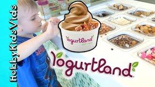 Yogurtland! Chocolate Chip Challenge + Frozen Yogurt Toppings Galore By Hobbykidsvids