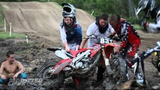 Cody gets bike stuck in the mud @ 3 Palms MX