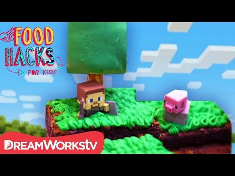 Edible Minecraft Map | FOOD HACKS FOR KIDS
