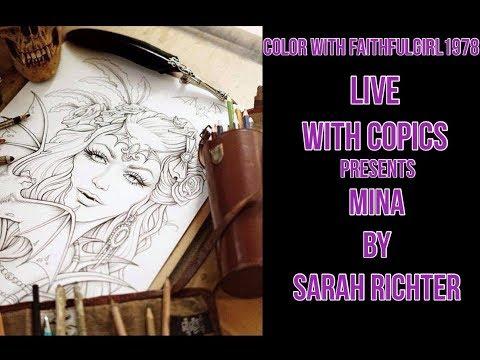 LIVE COLOR & CHAT #SPOOKTOBER COLORATHON   MINA SARAH RICHTER